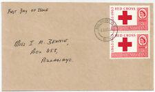Rhodesia & Nyasaland 1963 FDC 2 x 3d Red Cross sg 47 BULAWAYO 30 Aug 6