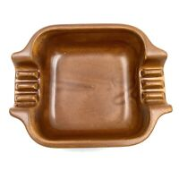 Vintage Haeger Ashtray Satin Brown Glaze Mid Century Modern MCM # 2138 USA