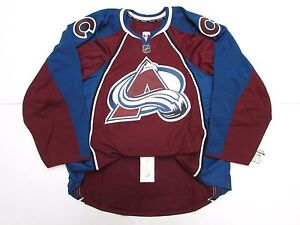COLORADO AVALANCHE AUTHENTIC NEW HOME TEAM ISSUED REEBOK EDGE 2.0 JERSEY SZ 58+