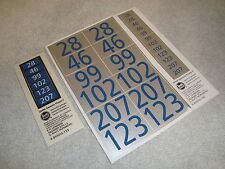 LGB 22490 SERIES AMTRAK GENESIS PHASE 5 DIESEL LOCO ROAD NUMBER LABELS BRAND NEW
