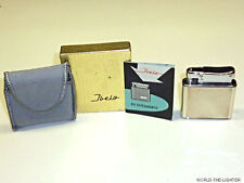 IBELO monopolio ART DECO Petrol Lighter W. 935 SILVER Case-OVP - 1952-Germany