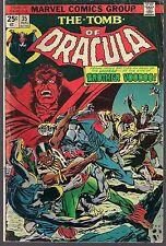 "TOMB OF DRACULA #35 MARVEL 08/75 ""HELL HATH NO FURY..!"" BROTHER VOODOO APP VG/FN"
