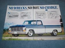 "1967 Ford F-100 F-250 Resto-Rod Article ""No Wrecks. No Rot. No Charge."" Long Bed"