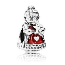 RETIRED PANDORA! NEW Christmas Mrs Clause Sterling Silver Charm792005EN07 RRP$55