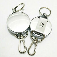 Lot Retractable Key Chain Reel Recoil Easy to Pu Key Ring f U1Y8 Clip Belt V7W6