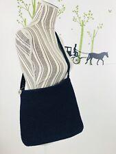 The Sak Womens Navy Blue Crochet Purse Hand Bag Shoulder Bag Zipper