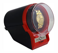 Black / Red Automatic Diplomat Watch Winder Case Box Storage Timer