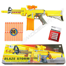 Blaze Storm Photon Soft Dart Bullet Electric Army Military Kids Toy Gun Fit Nerf
