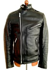 Vtg Mens Black Leather BELSTAFF ACE Motorcycle Biker Cafe Racer Jacket Coat Med
