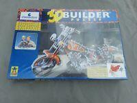 3D Builder Puzzle - Motorrad / Motorcycle / Chopper - 1997 Clementoni 117 Teile
