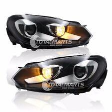 HID Headlights For 2009-2013 Volkswagen Golf 6 Bi-Xenon Lens Double Beam HV033