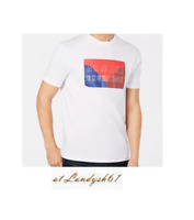Armani Exchange White Blue Red Logo Design Cotton Crewneck Men's T-Shirt Sz XL
