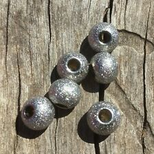 "304 Stainless Steel ""Stardust"" Spacer Bead Pack Of 10 8x7mm Oz Seller S003"