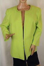 Preston York Womens Blazer Green Embellished Long Sleeve Lined Size 16