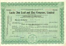 Canada 1937 Lucky Jim lead and zinc Company Ltd., certificato oltre 1.000 fondatore