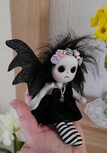 MINITURE OOAK' GOTHIC FAIRY/FANTASY gift boxed miniture doll  UNIQUE DESIGN