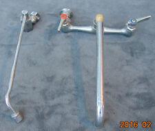 LOT 2 Mix Vintage Wall Mount Kitchen Faucet Used Gooseneck Long Lab PARTS STEAM