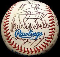BO SCHEMBECHLER & AL KALINE Signed 1991 Detroit Tigers Team Alan Trammell HOF