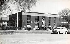 Iowa Ia Real Photo RPPC Postcard 1950 WAUKON Post Office Building Cars