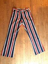Vtg Original Men's Striped Pants 60s-70s Denim 31-32 waist, 33-34 inseam