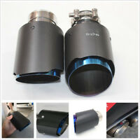 High Quality Real Carbon Fiber Vehicle Exhaust Muffler Tip Pipe 63mm Light/Matte