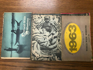 Basil Miller - World-Wide Missions - 23 Magazines - 1961-63 Evangelical Church