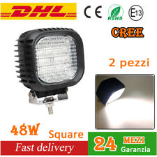 Pair 48W LED LUCE Faro Da Lavoro Barca Camion Flood CREE Work Light ATV 4x4 12V