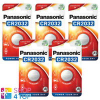 5 PANASONIC CR2032 LITHIUM BATTERY 3V CELL COIN BUTTON 1BL BLISTER EXP 2030 NEW