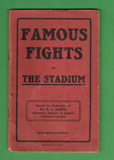 #D391.   1914 FAMOUS FIGHT AT THE STADIUM BOXING MAGAZINE