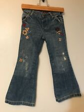 Baby Gap Copper Mountain Sz 5 Girls Embroidered Flare Jeans Boho Toddler