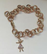 18cm Solid link Yellow Gold Vintage handmade Estate Charm Bracelet 9ct 18.8g