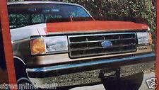 89-92 Ford Ranger Bronco II Deflecta-Shield RED TINT Bug Shield Hood Deflector