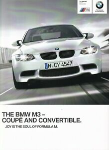 BMW M3 4.0 V8 Coupe & Convertible UK Market Brochure July 2012-2013