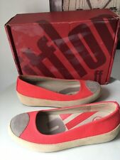 FITFLOP DUE BALLERINA TONING WALKING SHOES SIZE 3 HIBISCUS WORKOUT WORN TWICE