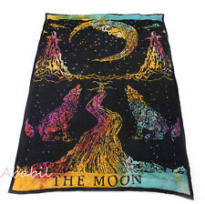 New Baby Quilt 100% Cotton Filled The Moon Multicolor Crying Wolf Coverlet Throw
