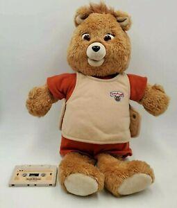 Teddy Ruxpin 1985 Talking Bear With 1 Tape Vintage