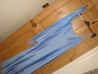 debenhams debut maxi dress blue beads with matching scarf wrap bnwt size 12 £125