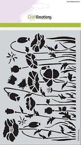 Flex-Schablone Mask stencil Mohnfelder 14,8 x 21 cm A5 CraftEmotions 185070/1233