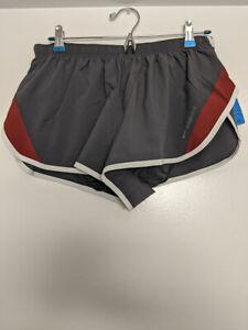 "Brooks Running Go To 2"" Split Shorts Gray Asphalt Jasper Men's Medium NWT"