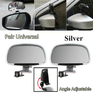 2x Car Side Blind Spot Mirrors 180 Degree Adjustable Universal Rear View Mirrors