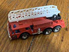 Vintage Matchbox Fire truck Engine 1982 Ladder Dept. Department Red