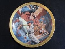 """Franklin Mint Royal Doulton """" Legendary Babe Ruth """" Collector Plate Numbered"""