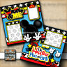 DISNEY MICKEY MOUSE & ME ~ 2 premade scrapbook pages paper piecing DIGISCRAP