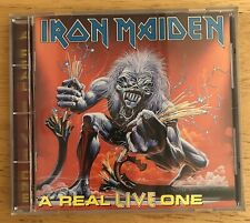 Iron Maiden A Real Live One Cd Capitol D 101419 Signed Steve Harris Made In USA