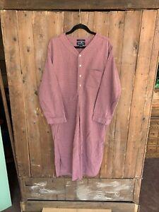 Brooks Brothers Plaid Pajama Shirt Dress Size Medium Button Up Night Shirt