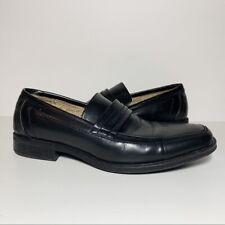 Zara Man Black Leather Square Toe Slip Ons Loafers Men's 7 M EUR 40