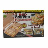 As Seen on TV Red Copper Flipwich Duo Sandwich Maker