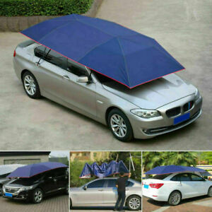 1× Universal Waterproof Automatic Car Umbrella Tent Semi-automatic Anti UV Cover