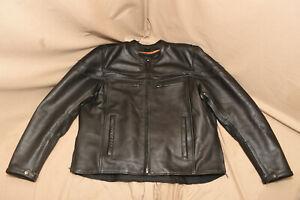 Milwaukee Leather Black Leather Motorcycle Jacket