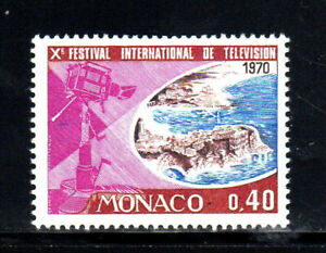 MONACO #750  1969  10TH INTERNATIONAL TV FESTIVAL     MINT  VF NH  O.G  b